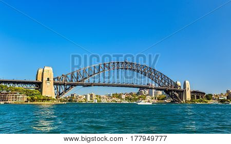 Sydney Harbour Bridge, built in 1932. Australia, New South Wales