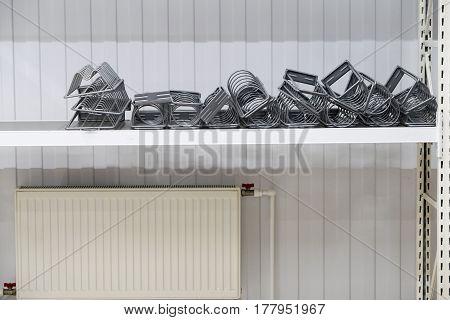 Mounting On Racks For The Item, On Shelves Background