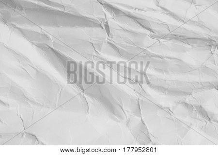 Background And Texture Of Crumpled White Paper Sheet.