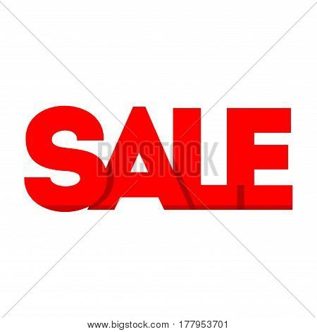 Sale icon. Sign isolated on white background. Vector flat design illustration