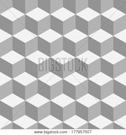 Tiling Geometry texture background with cubes. Decorative fabric monochrome cell