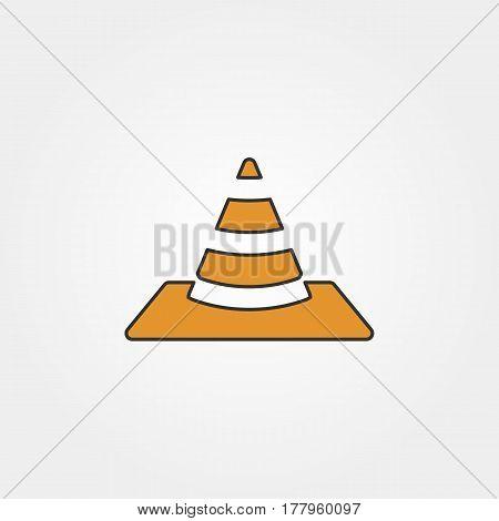 cone traffic icon - vector eps 10