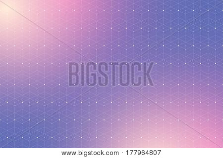 Geometric pattern with connected lines and dots. Graphic background connectivity. Modern stylish polygonal backdrop communication compounds for your design. Lines plexus. Vector illustration