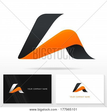 Letter A logo design vector sign - Stock vector. Business card templates.
