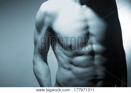 Nude Muscular Fit Man Naked