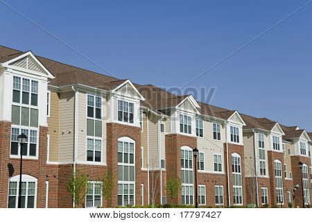 Suburban apartment building