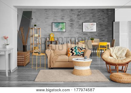 Interior design of living room