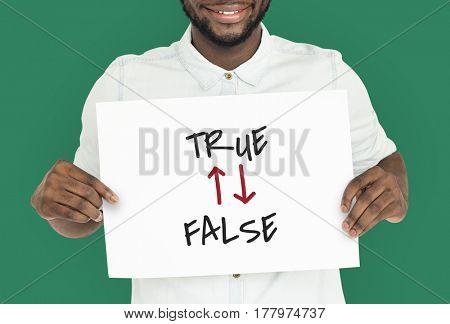 Life Questions True False Text