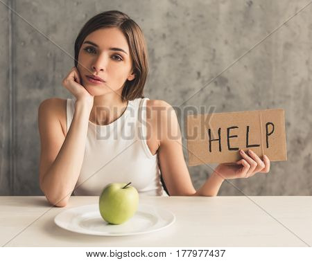 Girl Keeping Diet