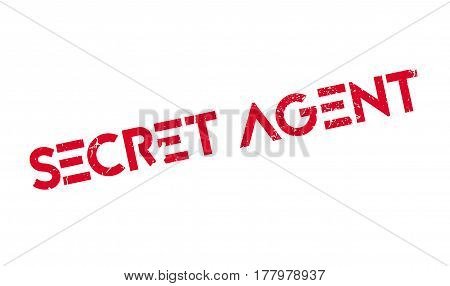 Secret Agent rubber stamp. Grunge design with dust scratches. Effects can be easily removed for a clean, crisp look. Color is easily changed.