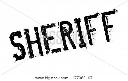 Sheriff rubber stamp. Grunge design with dust scratches. Effects can be easily removed for a clean, crisp look. Color is easily changed.