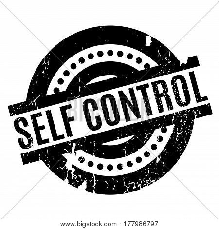 Self Control rubber stamp. Grunge design with dust scratches. Effects can be easily removed for a clean, crisp look. Color is easily changed.