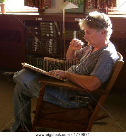 Adult Man Reading