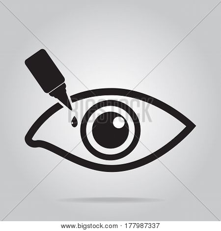Eye drops icon medical sign icon illustration