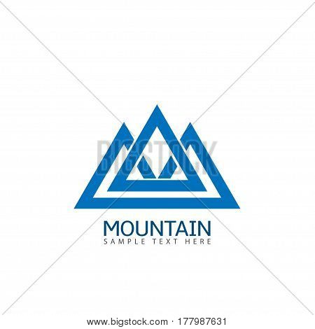 Mountain logo icon. Ski resort emblem, Vector illustration
