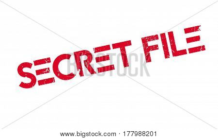 Secret File rubber stamp. Grunge design with dust scratches. Effects can be easily removed for a clean, crisp look. Color is easily changed.