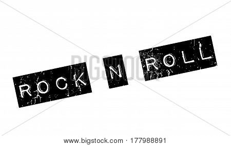 Rock N Roll rubber stamp. Grunge design with dust scratches. Effects can be easily removed for a clean, crisp look. Color is easily changed.
