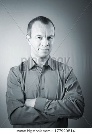 Businessman In Shirt Aged 40S