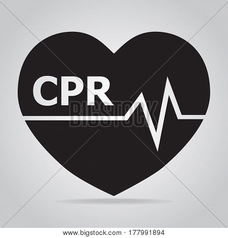 CPR Cardiopulmonary resuscitation icon. Medical sign icon poster