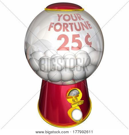 Your Fortune Prediction Gum Ball Machine 3d Illustration