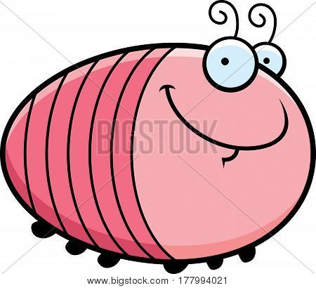 Happy Cartoon Grub