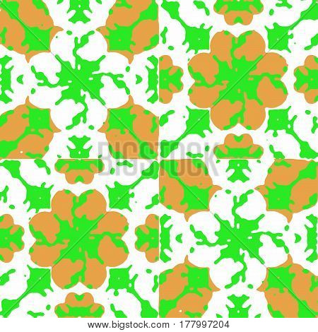 Graphic Floral Seamless Pattern Mosaic