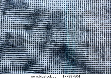 Abstract pattern of white plastic wrapping texture