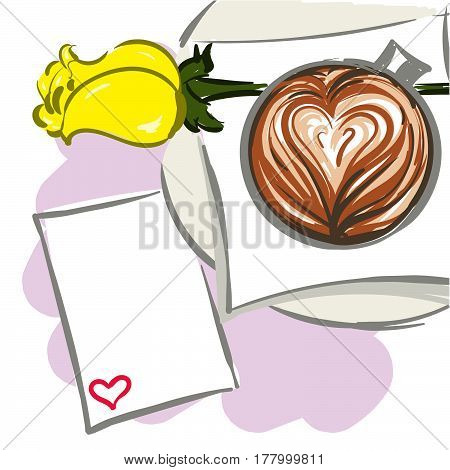 Hand Drawn Vector Illustration For Valentine's Day.