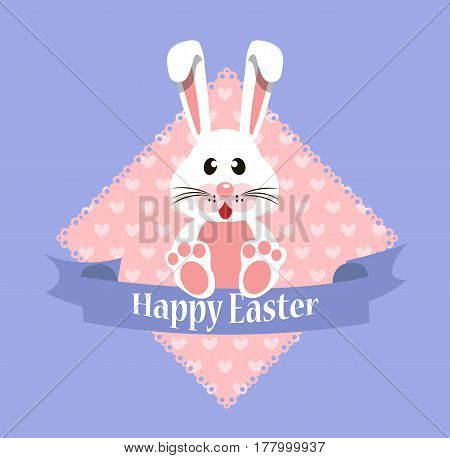 Vector background for easter. Easter rabbit card. Vector stock.
