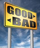 good bad a moral dilemma about values right or wrong evil or honest ethics legal or illegal  3D, illustration poster