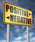 positive or negative optimism or pessimism bright side of life positivity and no negativity  3D, illustration poster