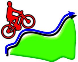 Uphill Cyclist