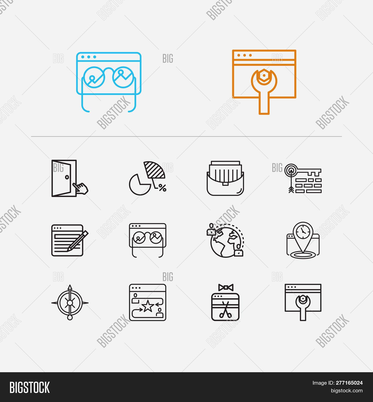 Seo Icons Set  Seo Image & Photo (Free Trial) | Bigstock