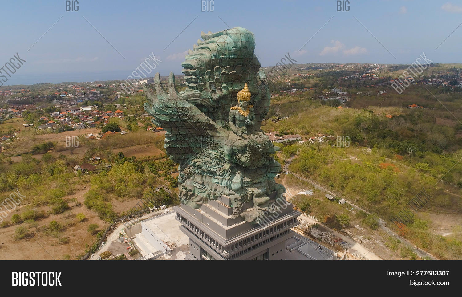 Aerial View Statue Image Photo Free Trial Bigstock