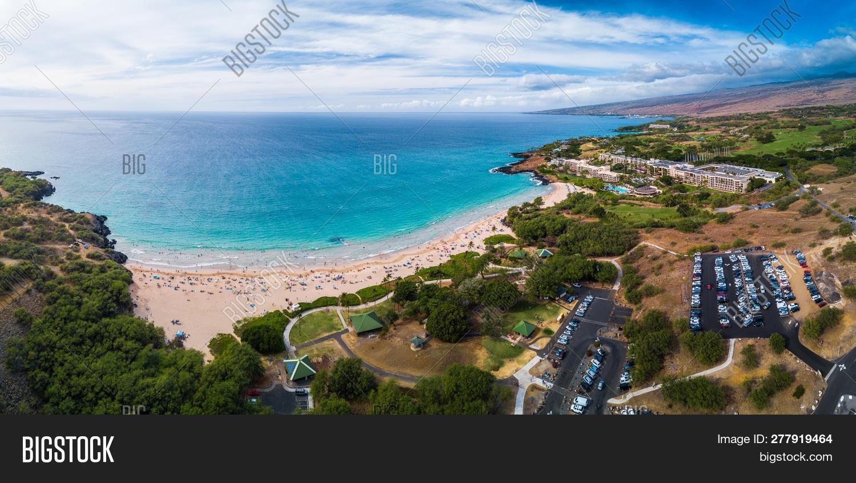 Aerial Panorama Hapuna Image Photo Free Trial Bigstock