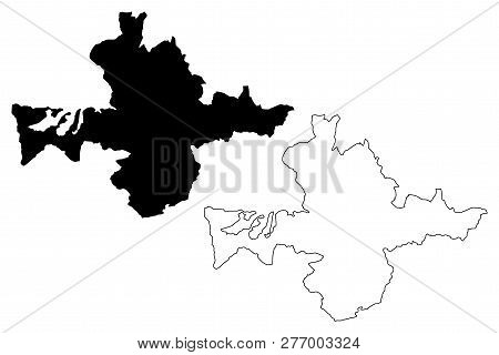 Banska Bystrica City (slovakia, Slovak Republic City) Map Vector Illustration, Scribble Sketch City