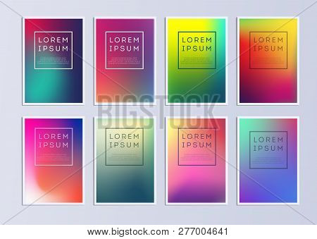Vector Template Covers With Gradient Pattern. Set Of Vector Cover Templates. Modern Set Of Covers. C