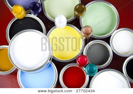 Paint and cans poster