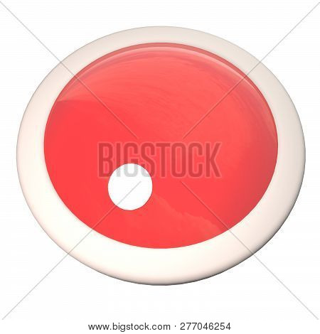 Empty Button Over White Background