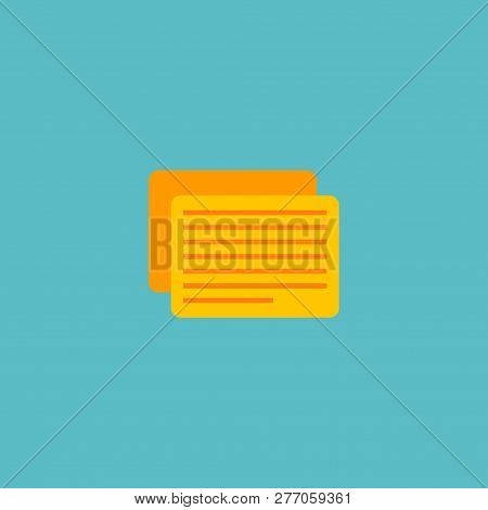 Task Icon Flat Element. Vector Illustration Of Task Icon Flat Isolated On Clean Background For Your