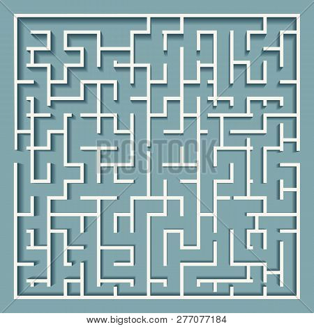Square Labyrinth Maze Vector & Photo (Free Trial) | Bigstock