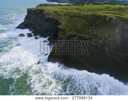 View Of The Coast Of Ajo, Cantabria, Spain