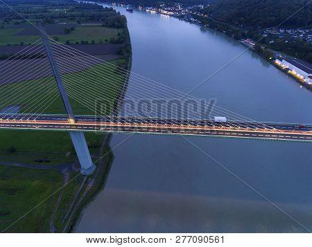 View Of The Brotonne Bridge, Saint-nicolas-de-bliquetuit, Normandy, France