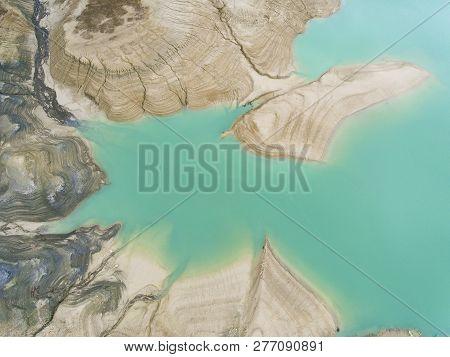 Yesa Reservoir In Tiermas, Zaragoza, Aragon, Spain