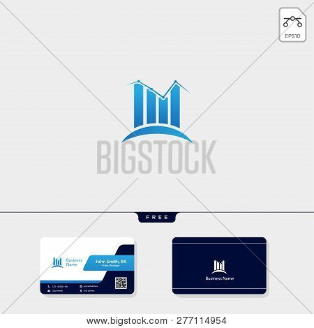 Accounting Finance Concept Logo Template Vector Illustration, Free Business Card Design
