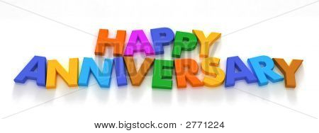 Happy Anniversary In Capital Letter Magnets