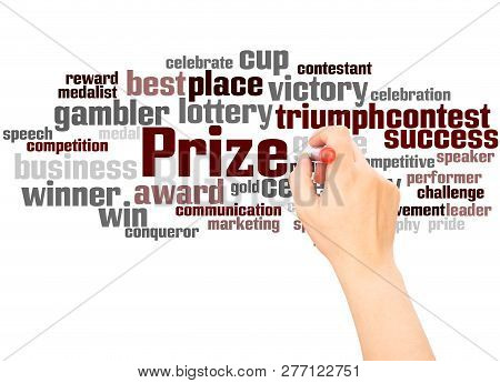 Prize Word Cloud Hand Writing Concept
