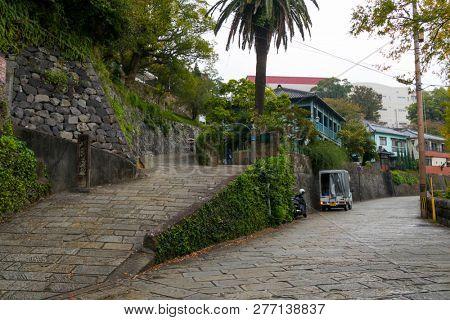 Nagasaki, Japan - October 26, 2018:  Western style house no.13A in Nagasaki's Higashiyamate district