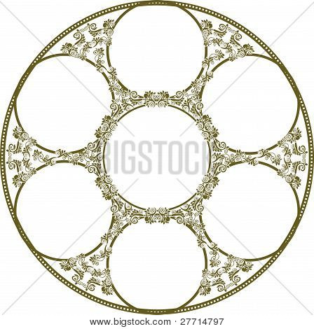 Circular Frame Of Seven Image