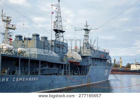 Baltiysk, Russia  - November 04, 2018: Physical Fields Control Vessel